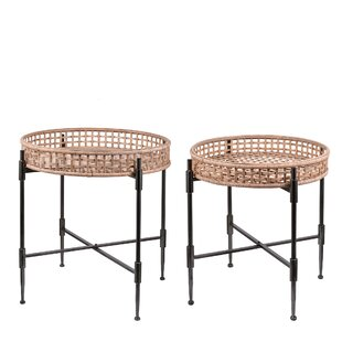 Gambardella Rattan Tray Table Set (Set of 2)  sc 1 st  Wayfair & Tray Table Sets TV Trays Youu0027ll Love | Wayfair