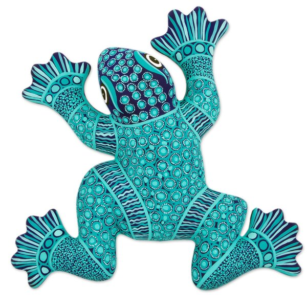 Novica Spotted Frog Hand-crafted Ceramic Frog Wall Décor   Wayfair