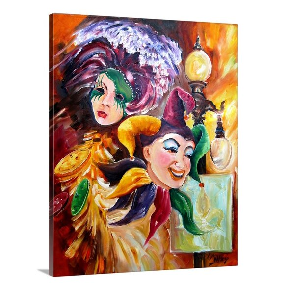 'Mardi Gras Images' by Diane Millsap Painting Print