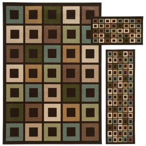 Westview Brown/Multi 3 Piece Area Rug Set