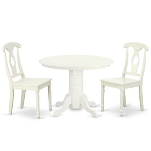 Kuehn 3 Piece Solid Wood Dining Set