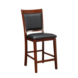 Holcombe Elegant Wooden Armless 24 Bar Stool (Set of 2)