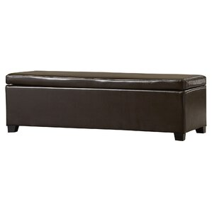 Bartlett Leather Upholstered Storage Ottoman by Andover Mills