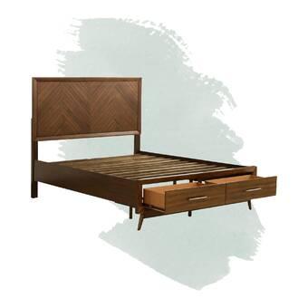 George Oliver Russ Storage Platform Bed Wayfair