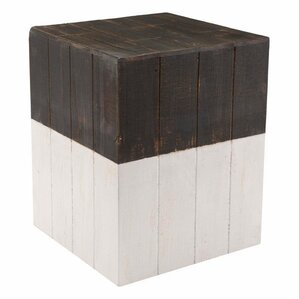 Abbey Wooden Square Garden Stool