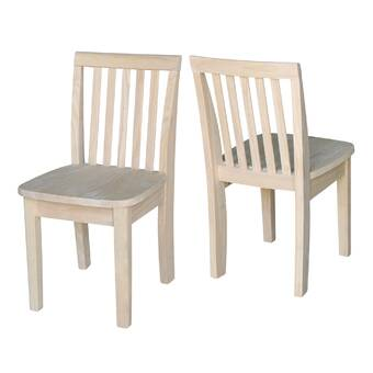 Severus Wood Ready To Finish Kids Desk Chair (Set Of 2)