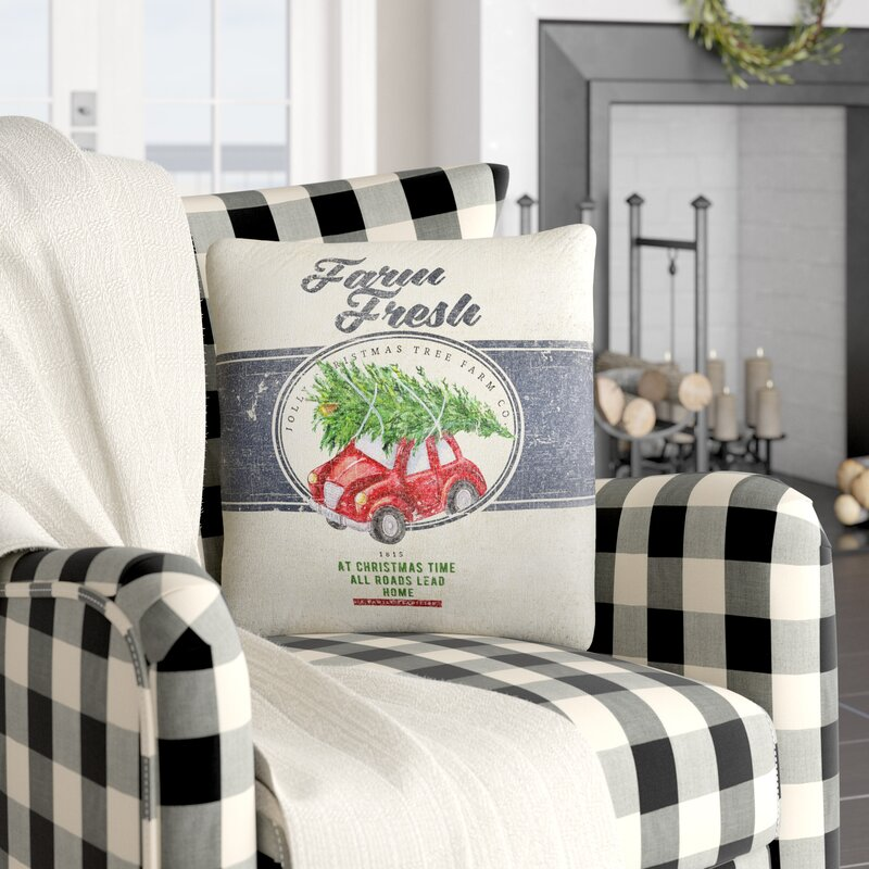 Laurel Foundry Modern Farmhouse Nora Farm Fresh Geometric Throw Pillow Reviews Wayfair