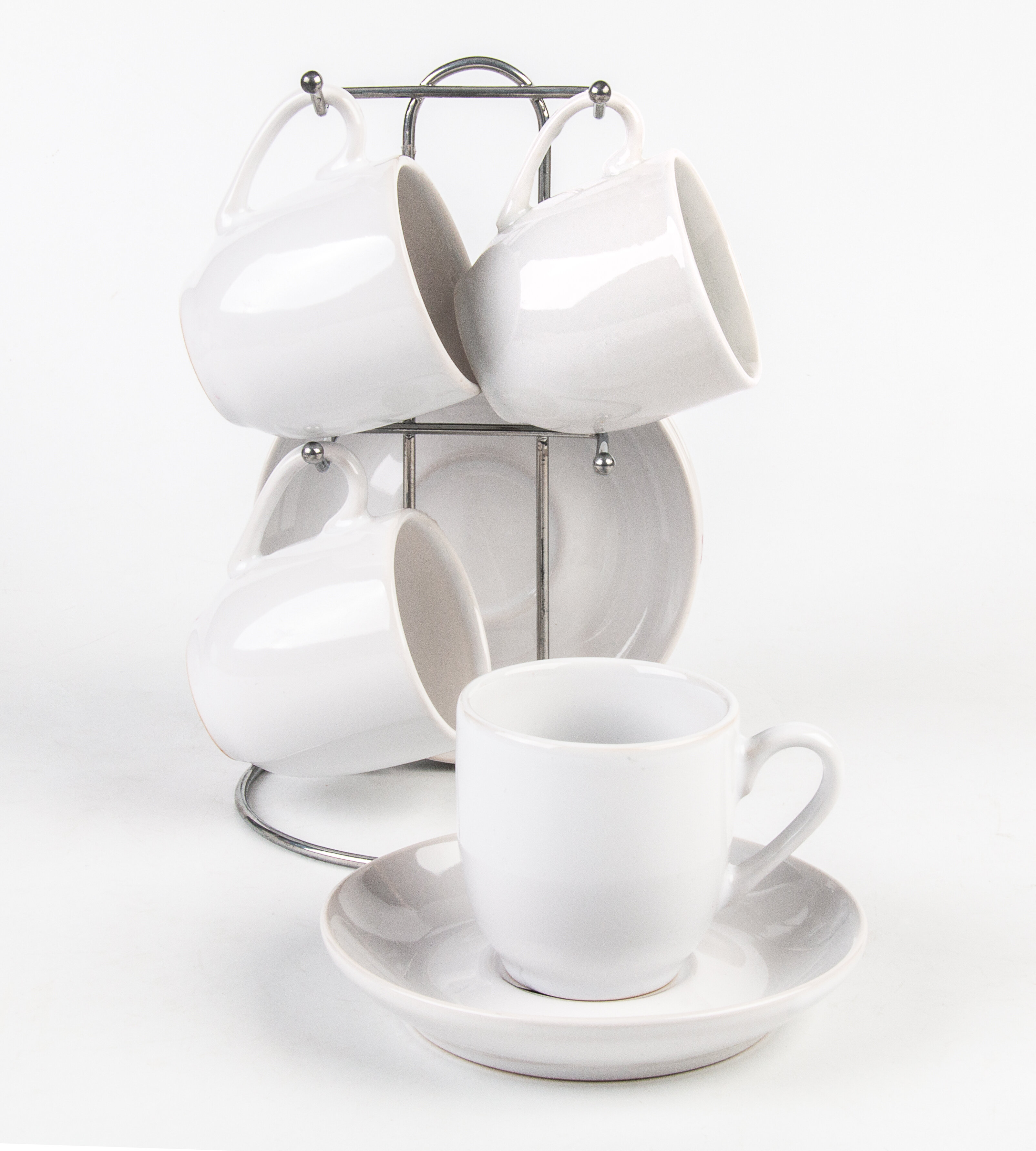Latitude Run Ameere Espresso Cup With Mug Tree And Saucer Wayfair