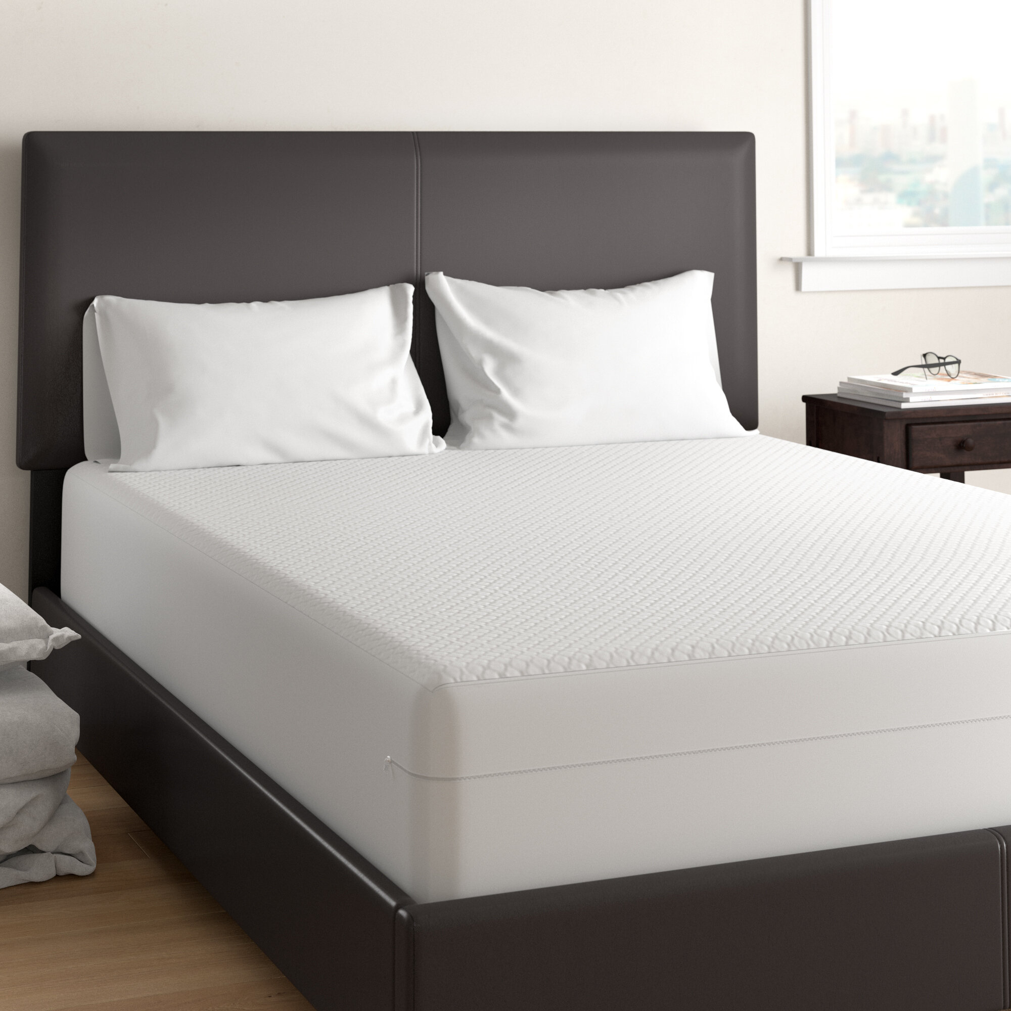 Bed Bug Mattress Cover.Alwyn Home Betances All In One Bed Bug Blocker Hypoallergenic And
