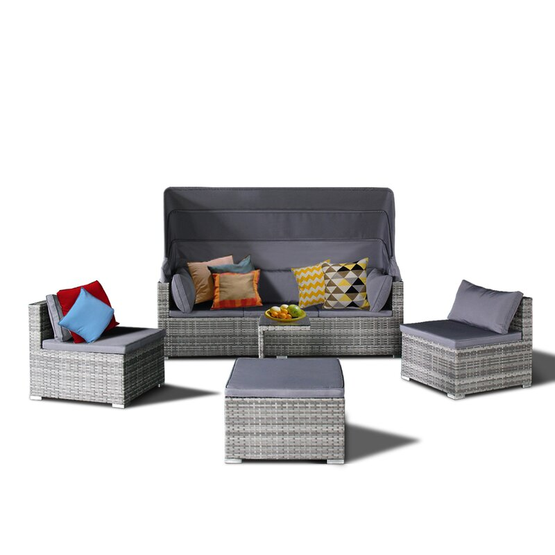 Wrought Studio Dierking 5 Piece Sectional Sofa Set with Cushions ...