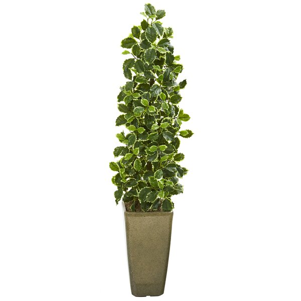 """House of Hampton® 47"""" Artificial Holly Tree in Planter ..."""
