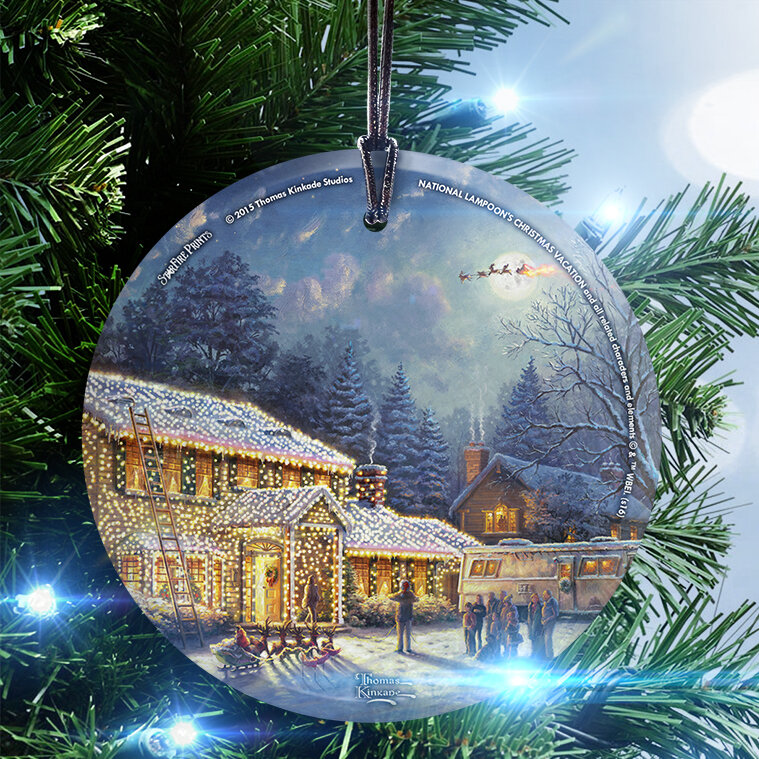 Trend Setters Thomas Kinkade (National Lampoon's Christmas Vacation) Hanging Shaped Ornament & Reviews | Wayfair