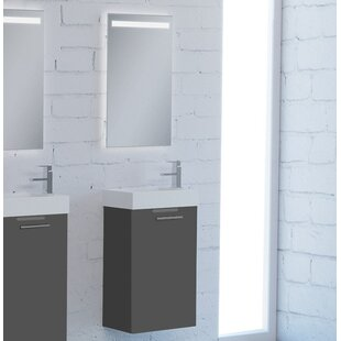 Nico 16 Wall-Mounted Single Bathroom Vanity Set with Mirror by Orren Ellis