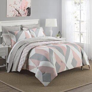 Hollington 100% Cotton 3 Piece Reversible Comforter Set
