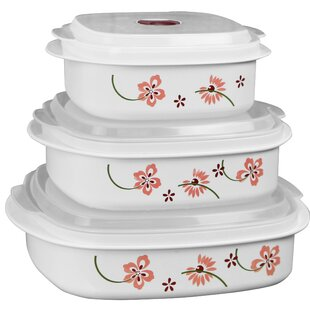 Microwave Cookware 3 Container Food Storage Set