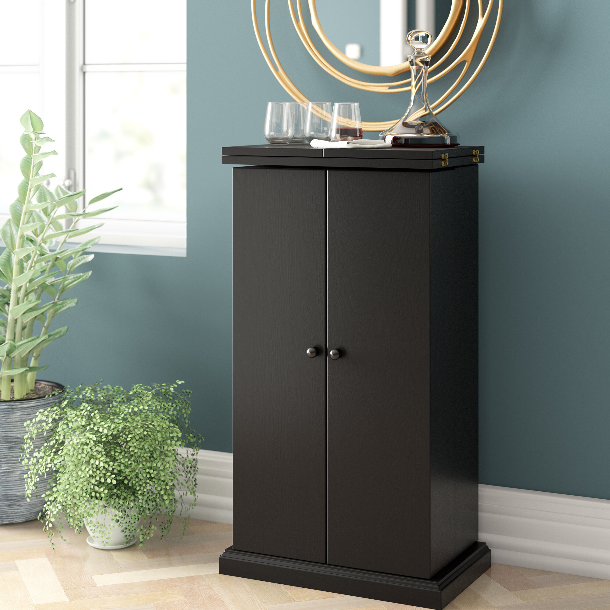 Home Haus Mini Bar Cabinet Reviews Wayfair Co Uk