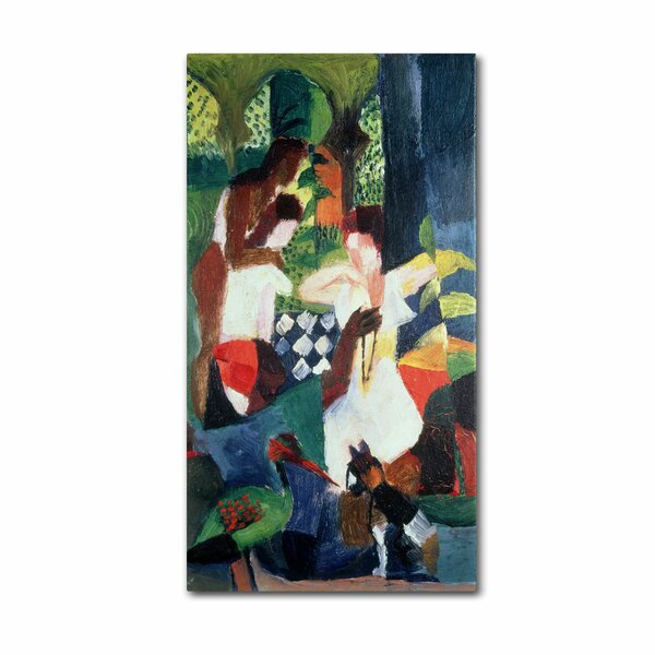 Trademark Art The Turkish Jeweller By August Macke Painting Print On Wrapped Canvas Wayfair
