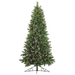 Flatback & Quarter Pre-Lit Christmas Trees You'll Love | Wayfair.ca