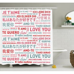 Love Emotional Messages Art Shower Curtain Set