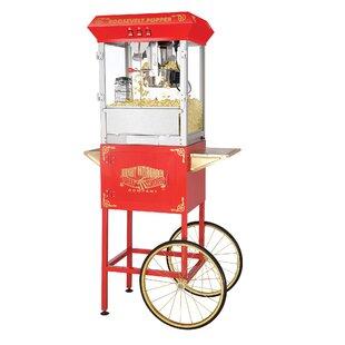8 Oz. Roosevelt Antique Popcorn Machine with Cart