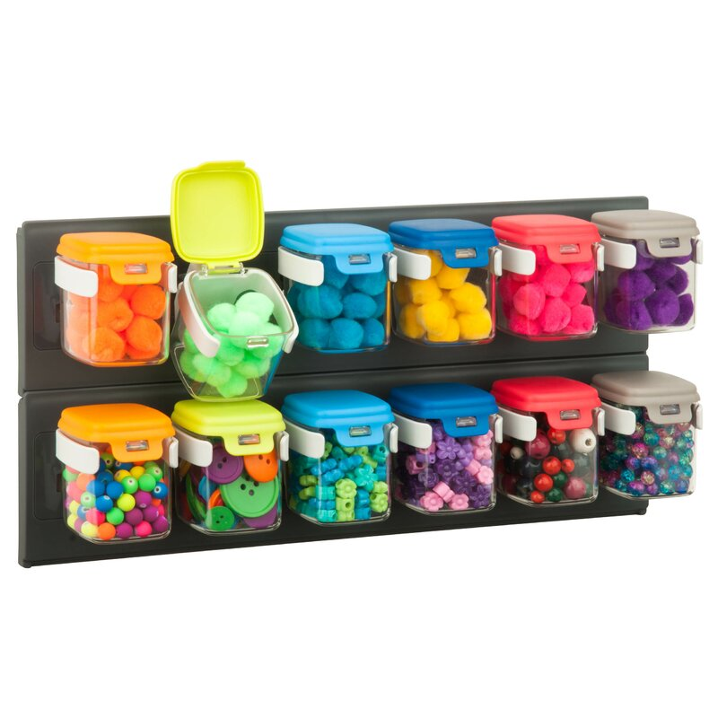 Honey Can Do Flip 12 Storage Bins Plastic Craft Case Reviews Wayfair