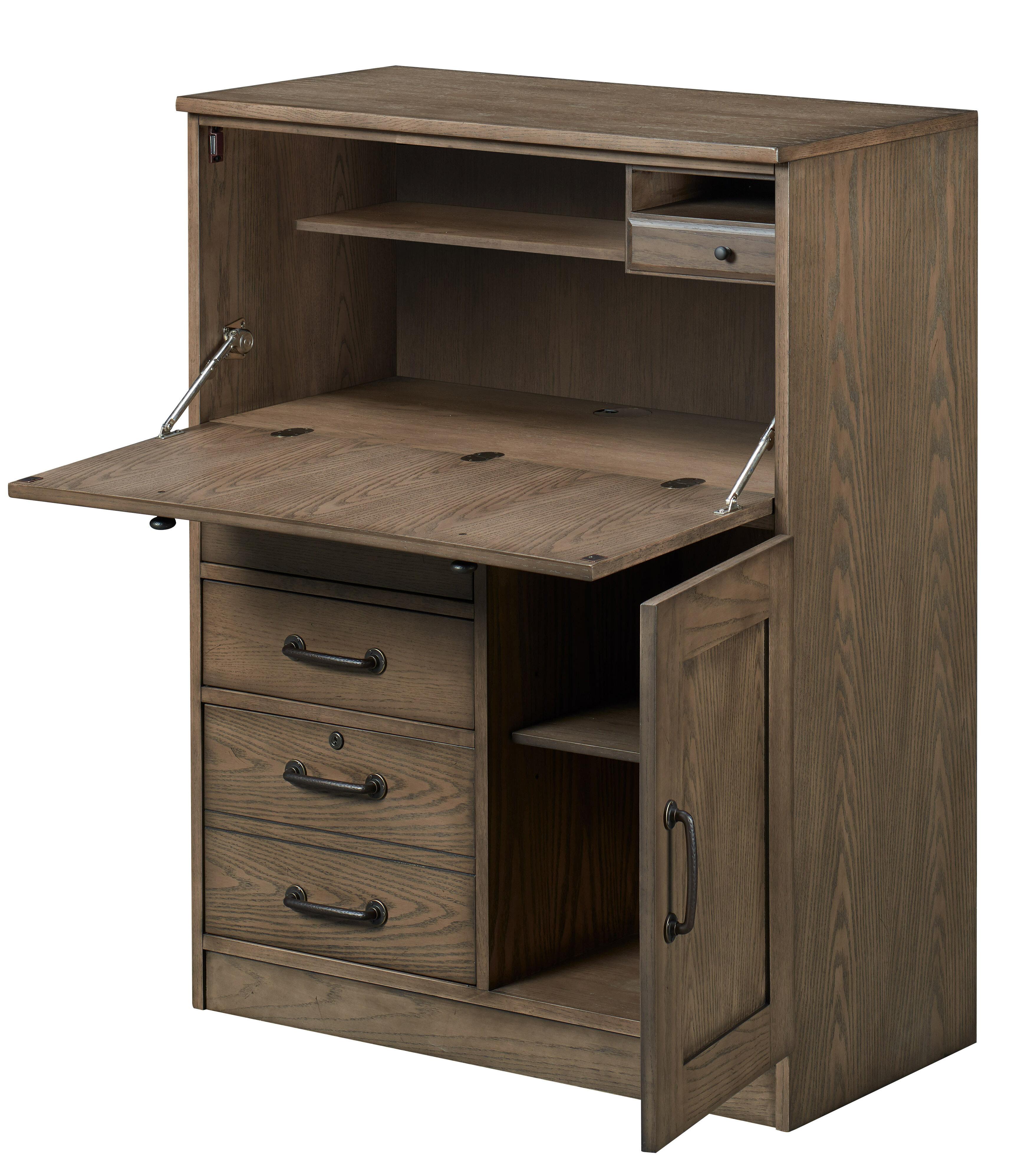Charlton Home Gupton Armoire Desk Wayfair