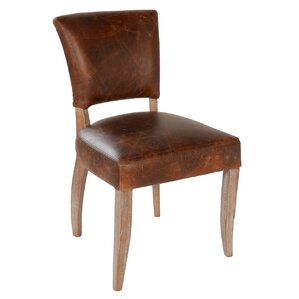 Ashley Genuine Leather Upholstered Dining Chair by Joseph Allen