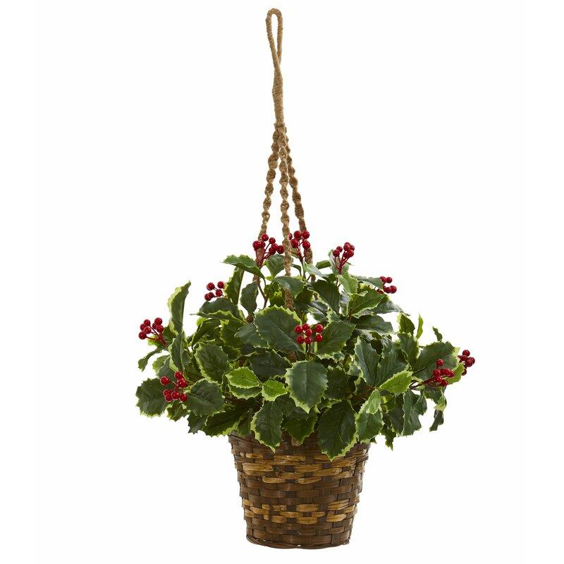 Charlton Home 26 Artificial Foliage Plant In Basket Wayfair