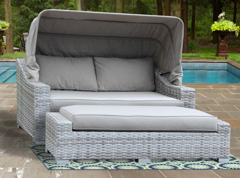 Luka patio daybed with sunbrella cushions joss main