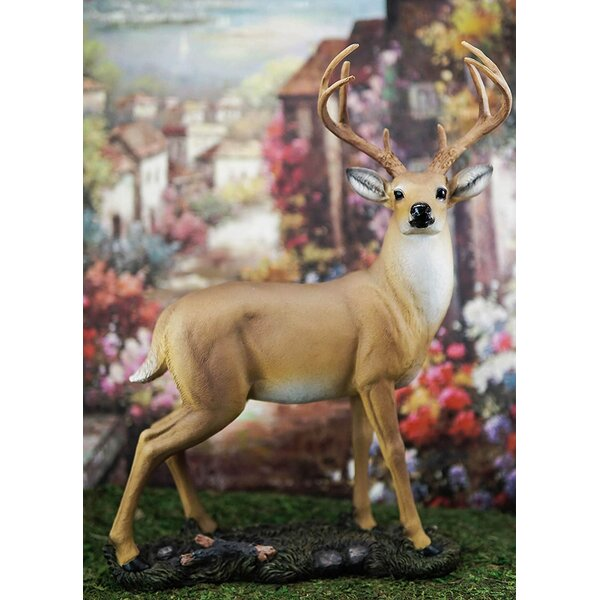 "15.5/"" Hunter Deer Wall Decor 8 Point Wild Buck Trophy Skull Wall Plaque Figurine"