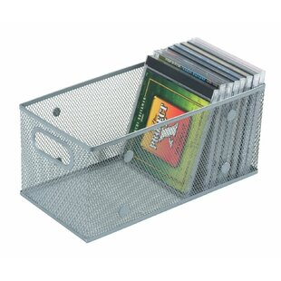 Mesh Open Bin DVD /CD/Book Storage Basket  sc 1 st  Wayfair : cd storage baskets  - Aquiesqueretaro.Com