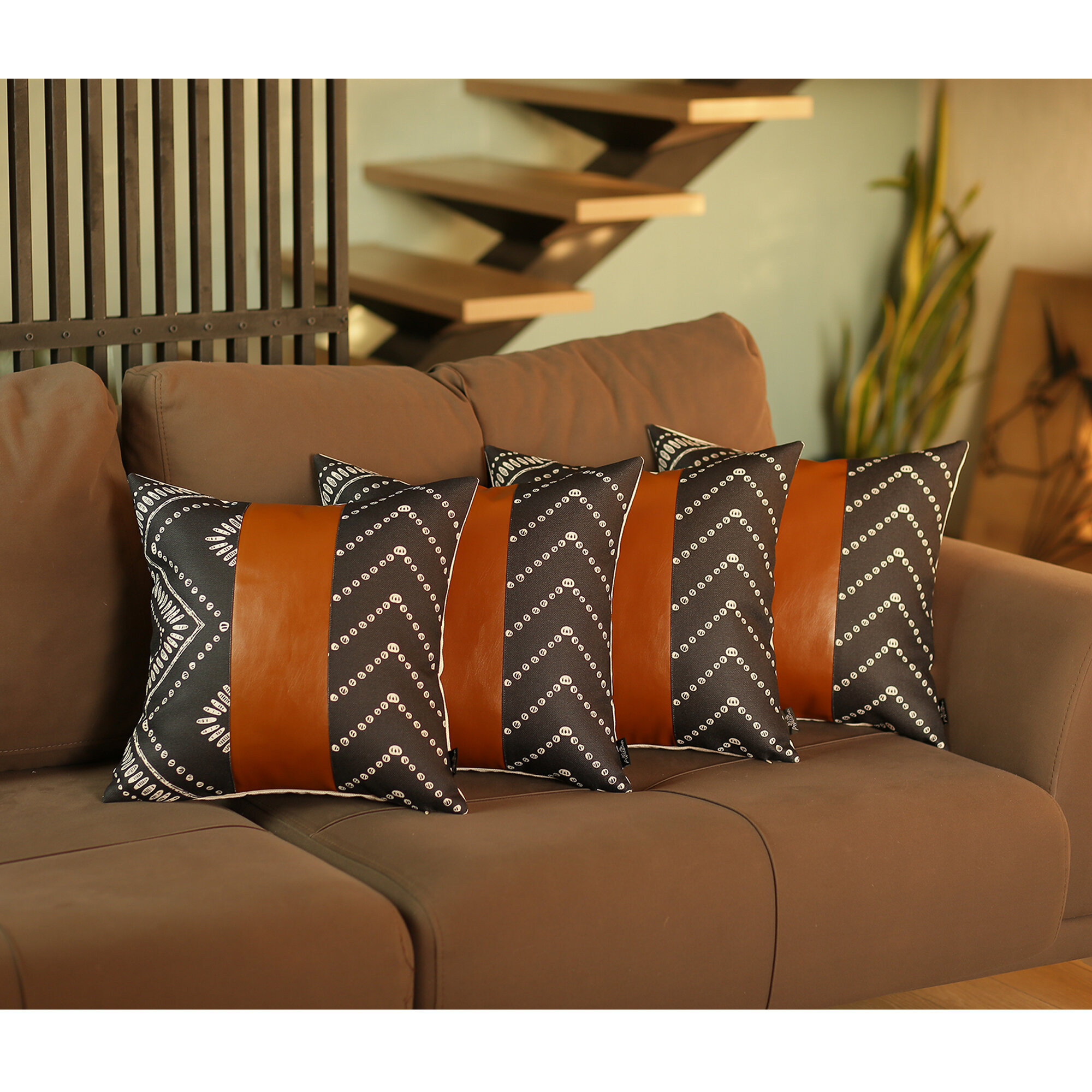 Foundry Select Townson Square Faux Leather Pillow Cover Wayfair