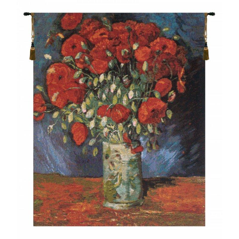 Charlotte Home Furnishings Poppy Flowers By Van Gogh Tapestry Wayfair