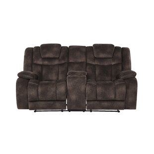 Pradeep Power Adjustable Headrest Console Reclining Sofa by Red Barrel Studio