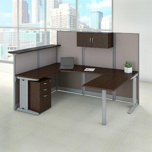 Reception 4 Piece U-Shape Desk Office Suite with Storage By Bush Business Furniture