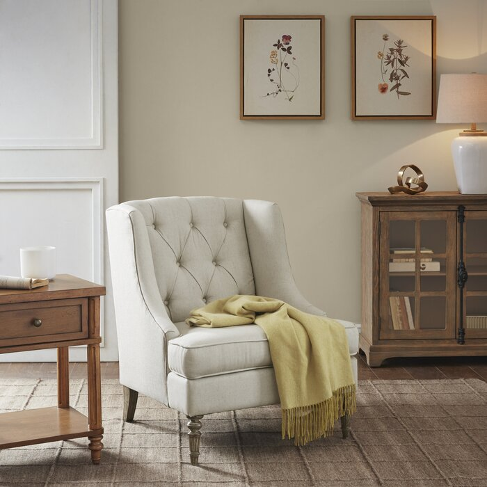 Martha Stewart Brielle Wingback Accent Armchair