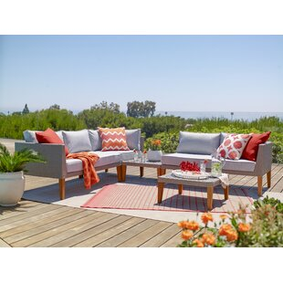 Crown Heights 5 Piece Sectional Set with Cushions