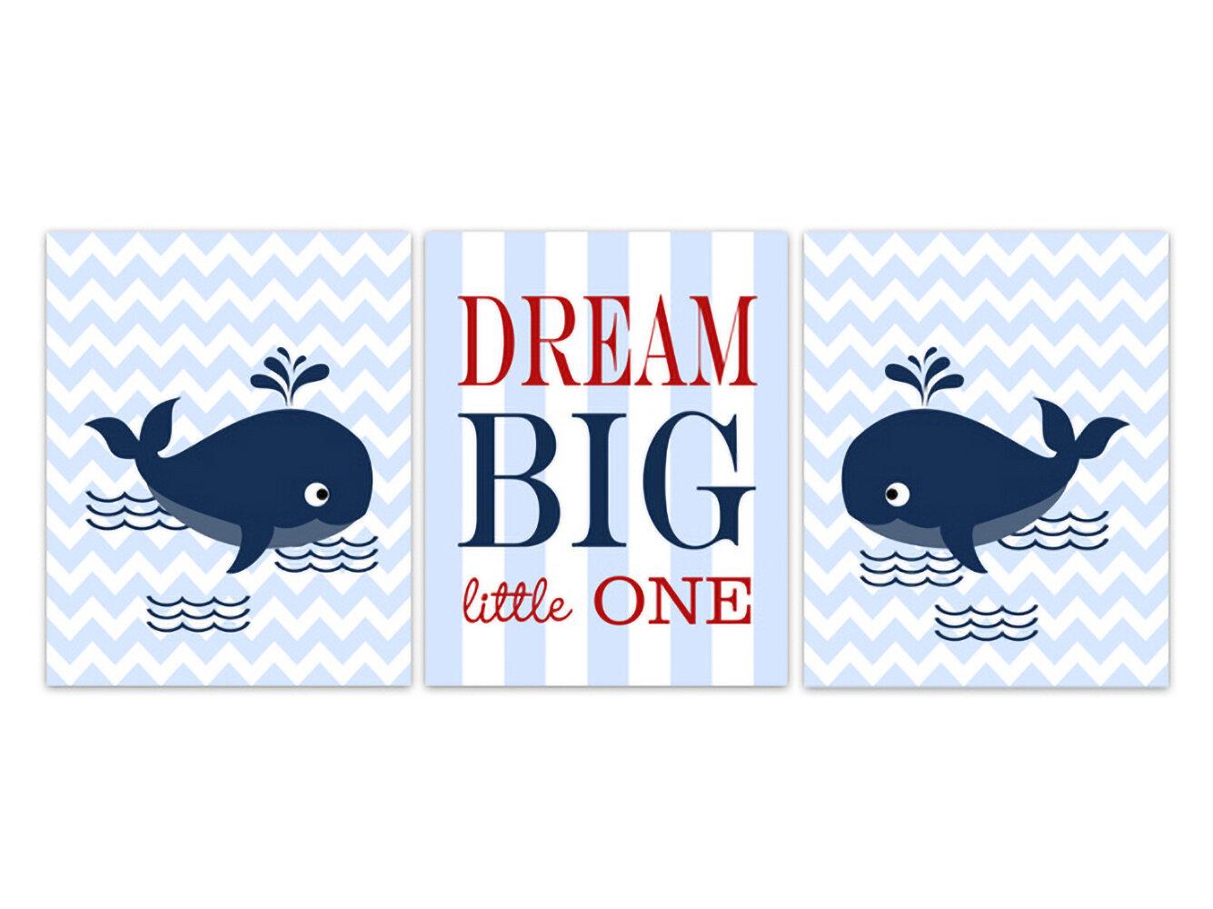 Set of 3 Dream Big ABC My Little Star Grey Prints Nursery Kids Room Wall Art