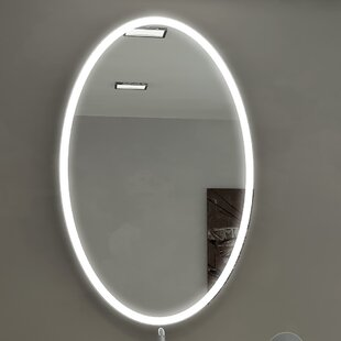 Best Reviews Kristian Illuminated Bathroom/Vanity Wall Mirror By Orren Ellis