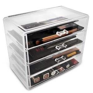 4 Drawer Makeup Cosmetic Organizer