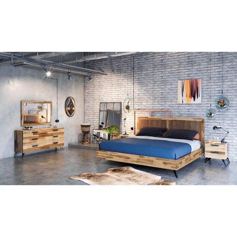 Nice Sofia Light Wood Platform 5 Piece Bedroom Set