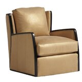 Carlyle 30 W Top Grain Leather Swivel Armchair by Lexington