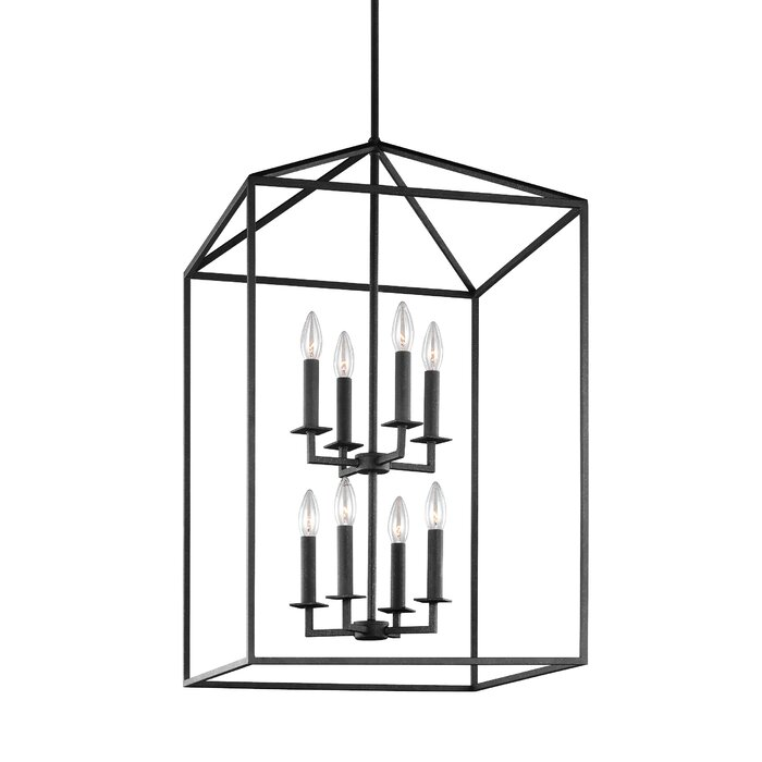 timeless design 2c7d5 75249 Odie 8-Light Lantern Tiered Pendant