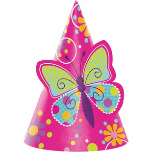 Butterfly Hat Paper Disposable Party Favor (Set of 24)