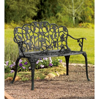 Phenomenal Plow Hearth Grape Aluminum Garden Bench Size 3307 H X 2087 W Camellatalisay Diy Chair Ideas Camellatalisaycom