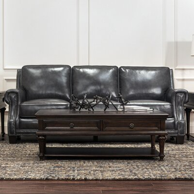 Trent Austin Design Riley Leather Sofa Upholstery Color ...
