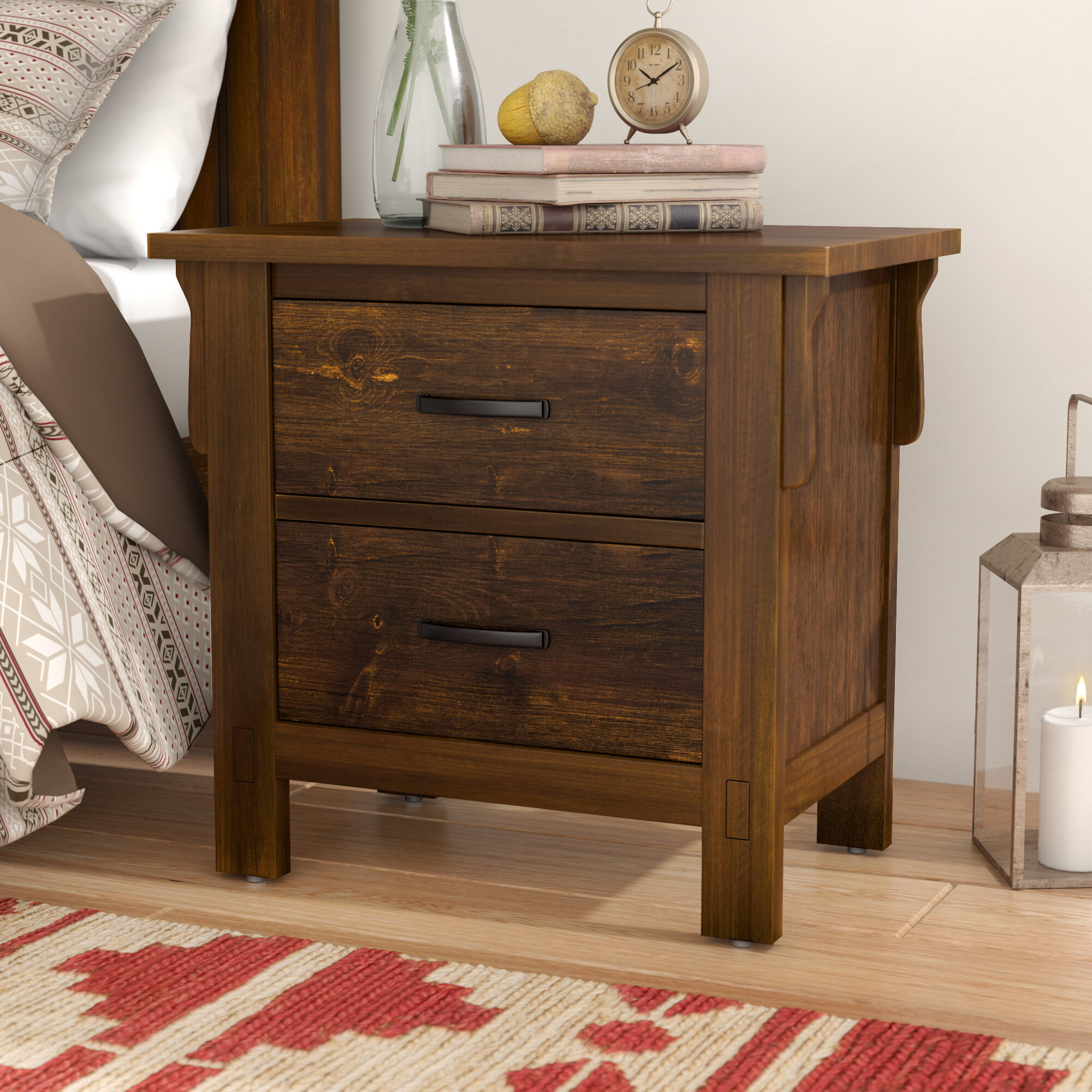 Waynoka 2 Drawers Nightstand