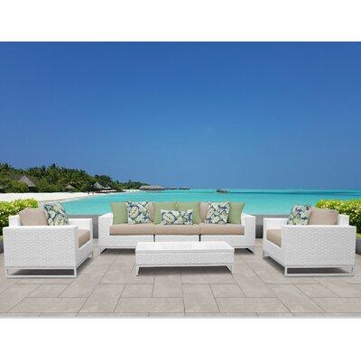 Admirable Tk Classics Miami 6 Piece Sofa Set With Cushions Cushion Cjindustries Chair Design For Home Cjindustriesco