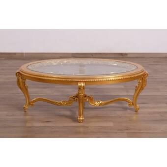 Europeanfurniture Veronica Iii Oval Coffee Table Wayfair