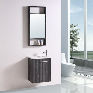 Soraya 20 Wall-Mounted Single Bathroom Vanity Set with Mirror By Orren Ellis